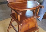 Antique High Chair Refinished in Long Beach