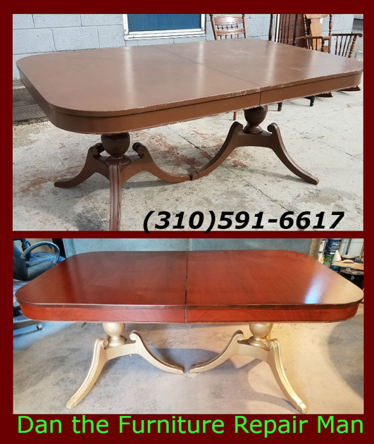 Antique Mahogany Table Restoration On Havana Ave In Long