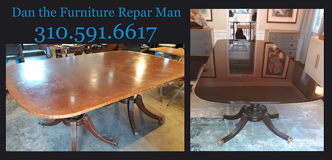 Chippendale Dining Table Restoration In, Furniture Repair Los Angeles