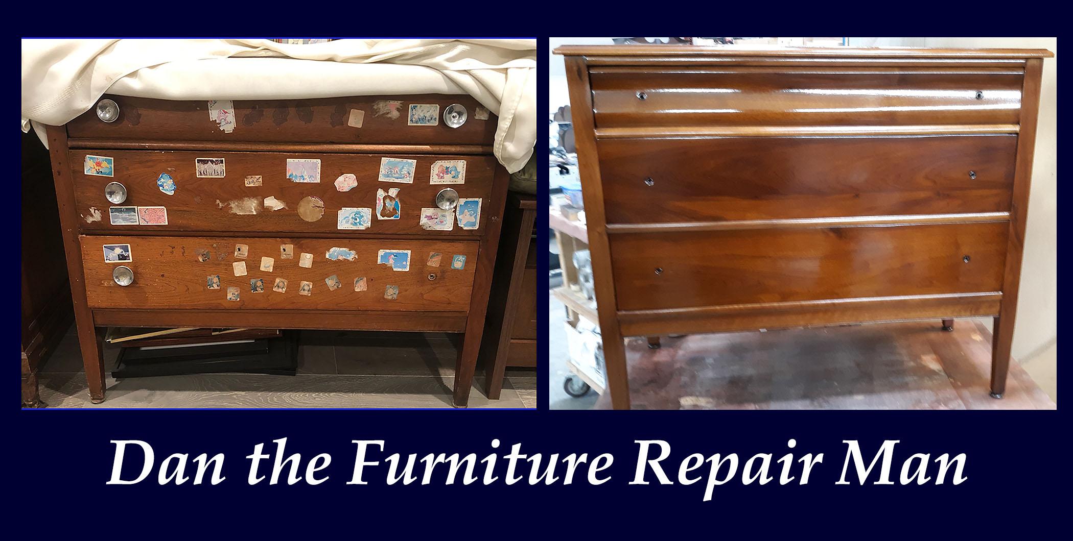 Walnut Dresser Restoration in Los Alimitos, CA