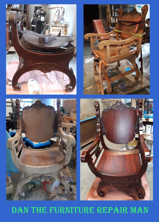 Lion's Head Chair Restored in Huntington Beach