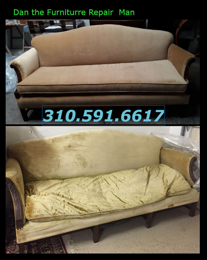 Mid Century Couch Restoration And Upholstery Restoration