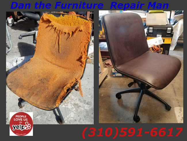 Customer S Office Chair Restoration Project In Long Beach Ca