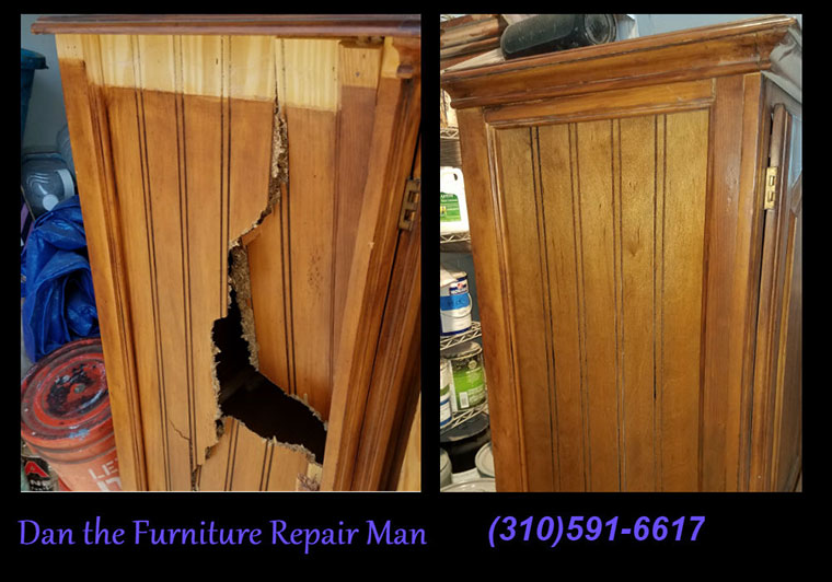Repaired Damaged Cabinet in West Los Angeles, CA