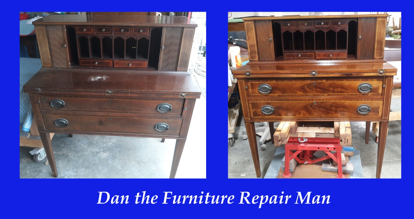 Secretary Desk Restoration in Huntington Beach, CA