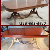 Antique Mahogany Table Restoration Long Beach, CA