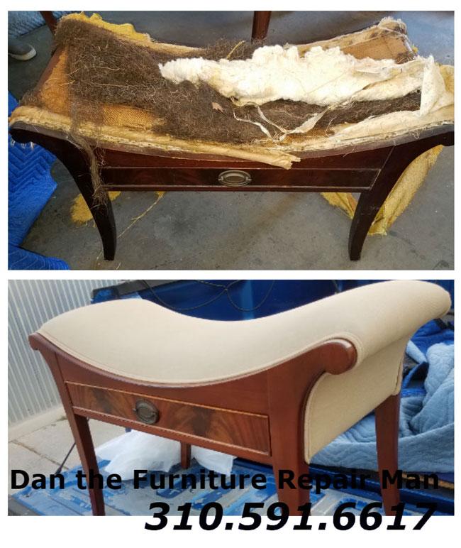 Vanity Bench Repair and Refinishing Venice, CA